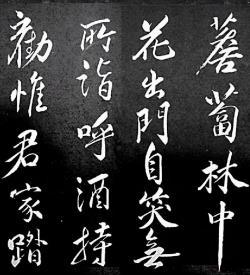 《清虚堂诗》(北宋.苏轼)行书