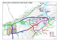 赣州市中心城区2016年城市建设项目分部示意图-城市道路、桥梁隧道(2016.3.21制图)