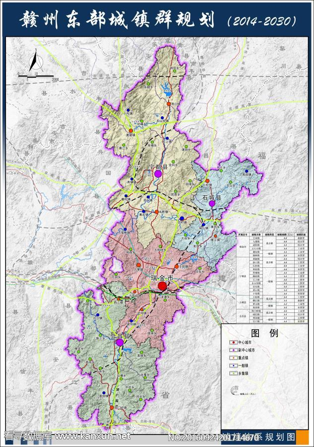 赣州东部城镇群规划(2014-2030)-城镇体系规划图
