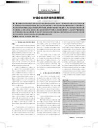 乡镇企业经济结构调整研究