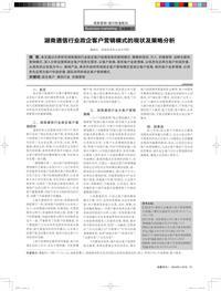 湖南通信行业政企客户营销模式的现状及策略分析