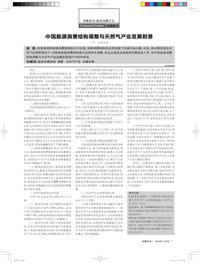 中国能源消费结构调整与天然气产业发展前景