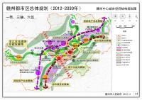 赣州都市区空间结构规划图(2012-2030)