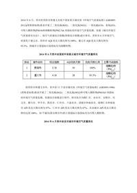 贵州2014年6月11个设市城市环境空气质量三项指标综合指数统计表