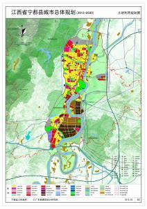 江西省宁都县城市总体规划(2013-2030)土地利用规划图