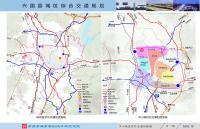 《兴国县城区综合交通规划》规划图 中心城区对外交通衔接图